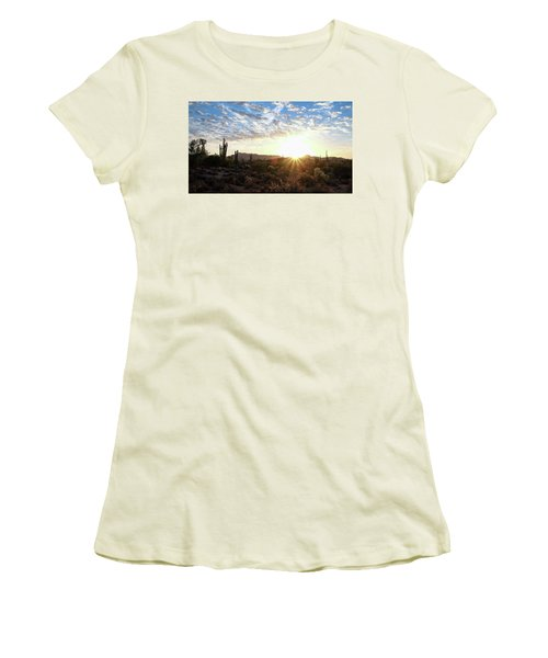 Women's T-Shirt (Athletic Fit) featuring the photograph Beginning A New Day by Monte Stevens