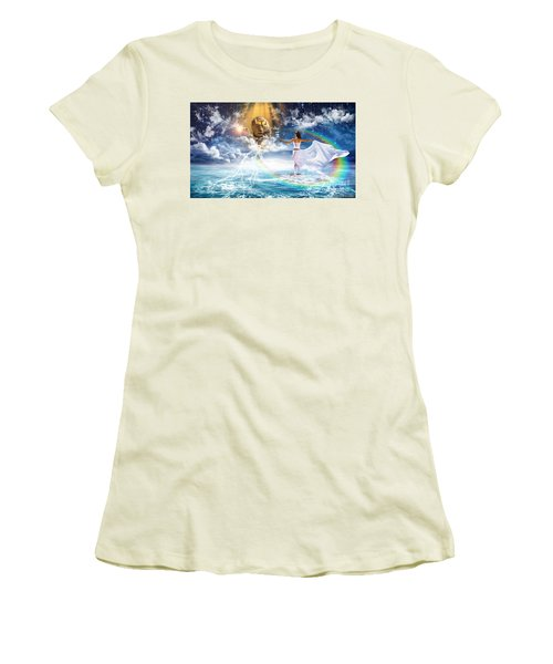 Behold, He Is Coming  Women's T-Shirt (Junior Cut) by Dolores Develde