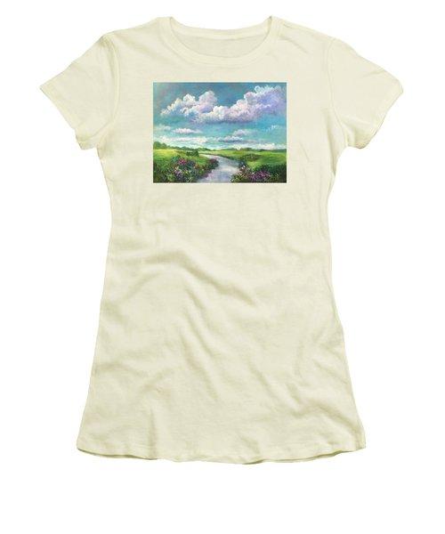 Beneath The Clouds Of Paradise Women's T-Shirt (Junior Cut) by Randy Burns