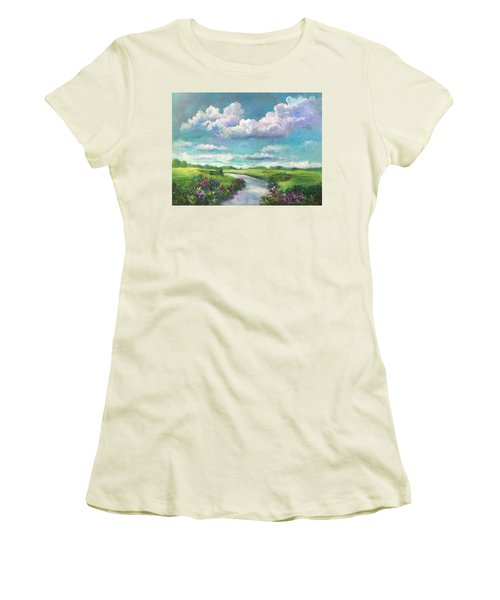 Beneath The Clouds Of Paradise Women's T-Shirt (Athletic Fit)