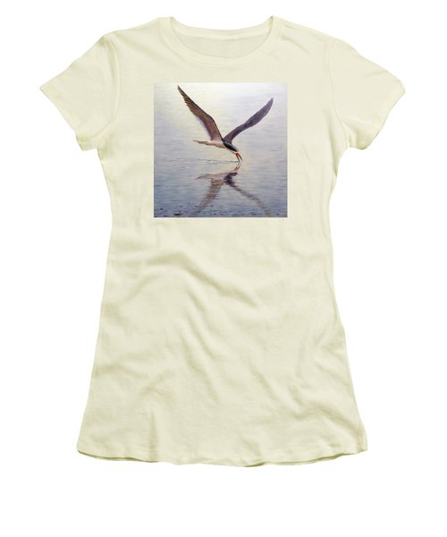 Black Skimmer Women's T-Shirt (Athletic Fit)