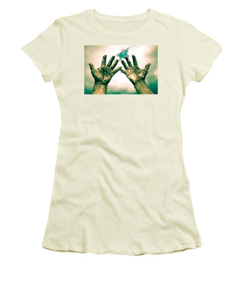 Beseeching Hands Women's T-Shirt (Athletic Fit)