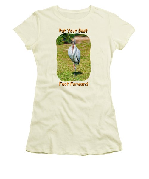 Best Foot Forward Women's T-Shirt (Athletic Fit)