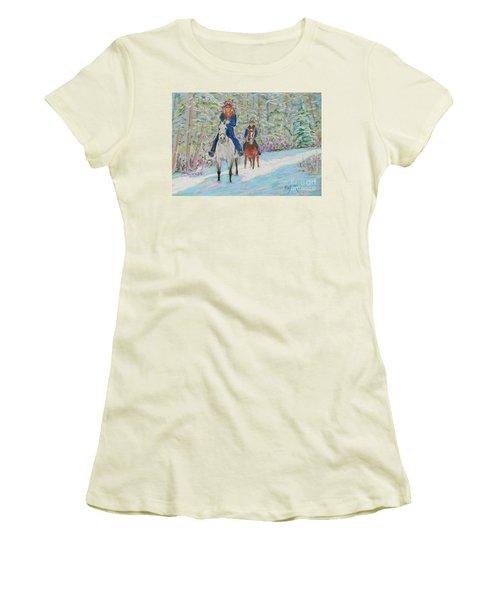 Beth And Nancy  Women's T-Shirt (Junior Cut) by Rae  Smith  PAC