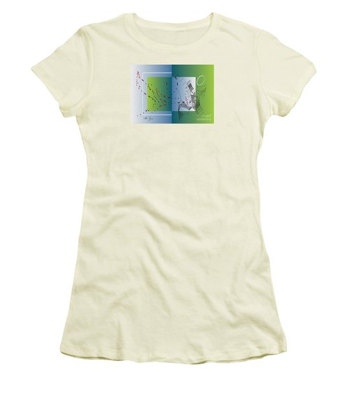 Women's T-Shirt (Junior Cut) featuring the digital art Between Heaven And Me by Leo Symon