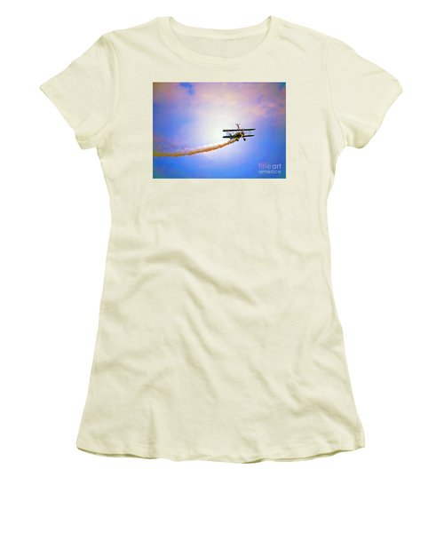 Bi-plane And Wing Walker Women's T-Shirt (Athletic Fit)