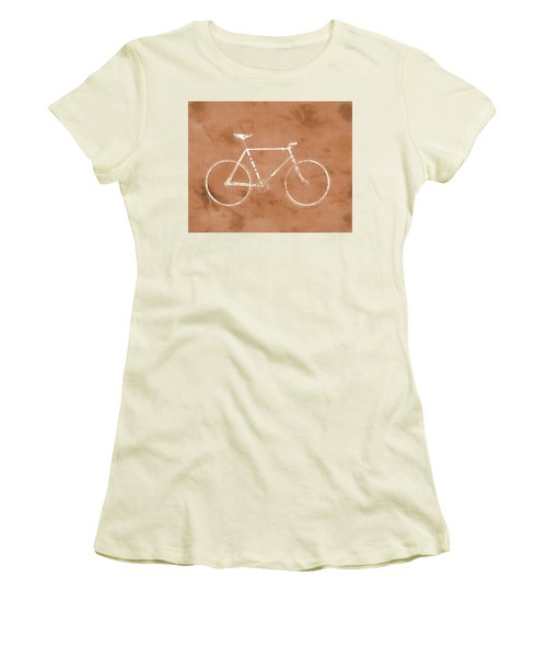 Bicycle On Tile Women's T-Shirt (Junior Cut) by Dan Sproul
