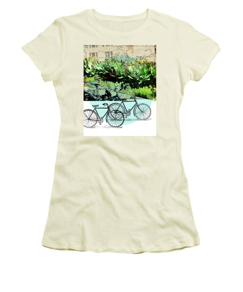 Bike Poster Women's T-Shirt (Athletic Fit)