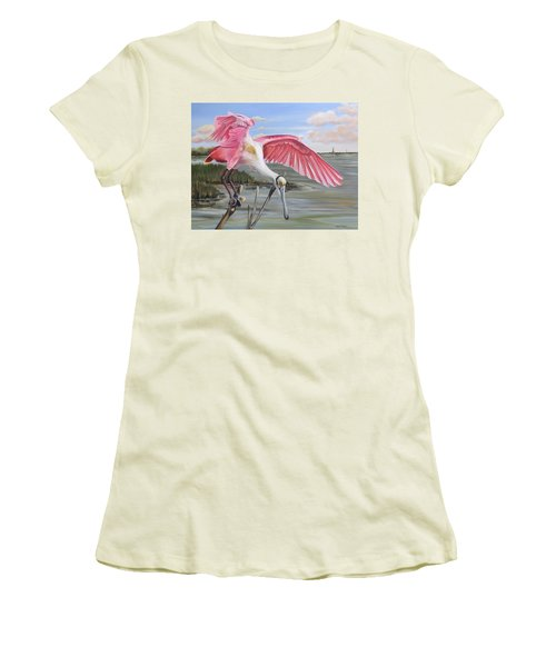 Biloxi Bayou Beauty Women's T-Shirt (Athletic Fit)