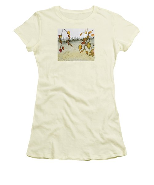 Birch In Autumn Women's T-Shirt (Athletic Fit)