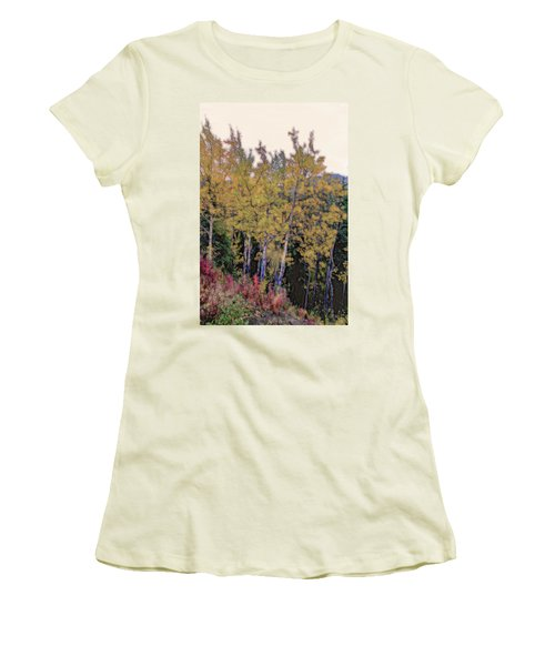 Birch Trees #2 Women's T-Shirt (Athletic Fit)