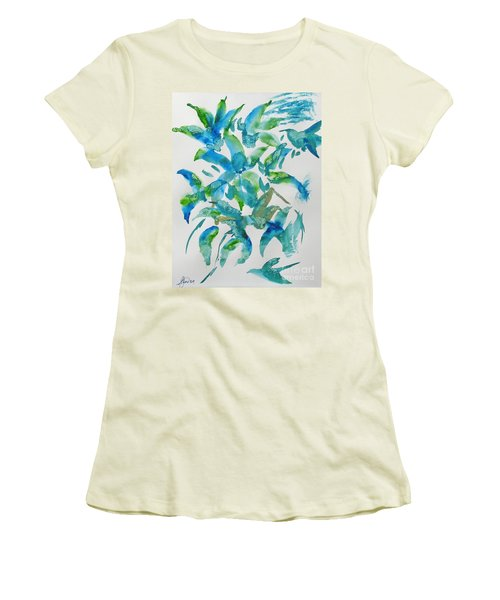 Birds And Blooms Women's T-Shirt (Athletic Fit)