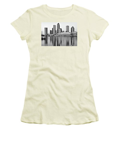 Black And White In The Heart Of Tampa Bay Women's T-Shirt (Junior Cut) by Frozen in Time Fine Art Photography