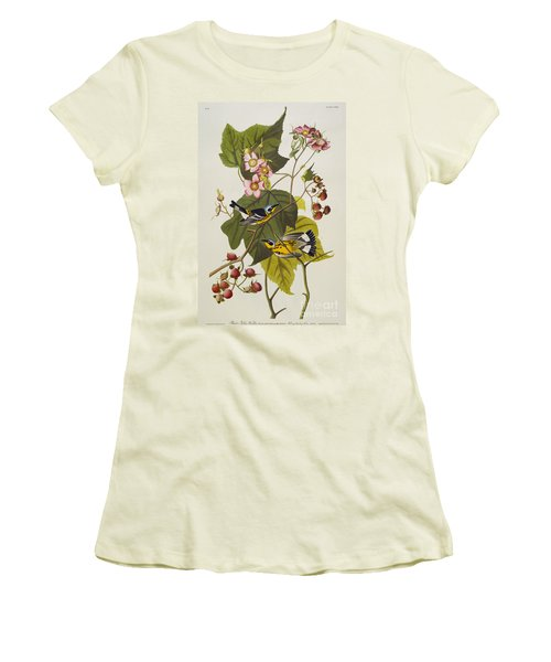Black And Yellow Warbler Women's T-Shirt (Athletic Fit)