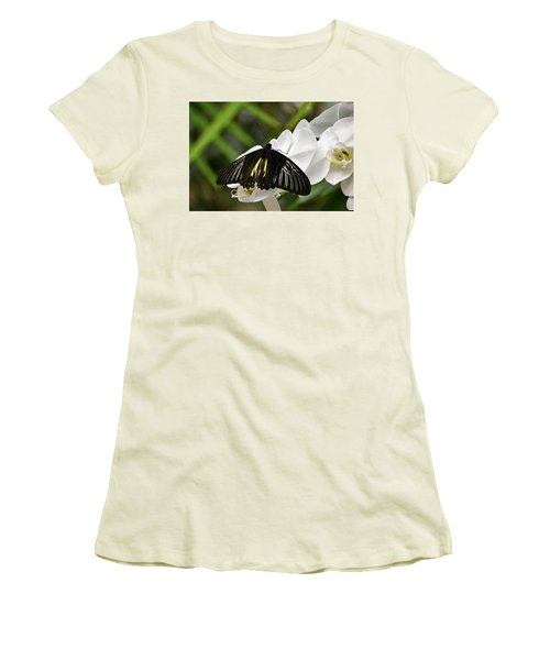 Black Butterfly Women's T-Shirt (Athletic Fit)