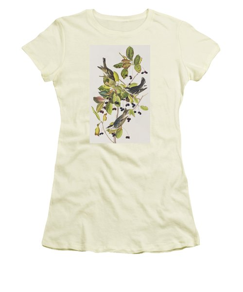 Black Poll Warbler Women's T-Shirt (Athletic Fit)