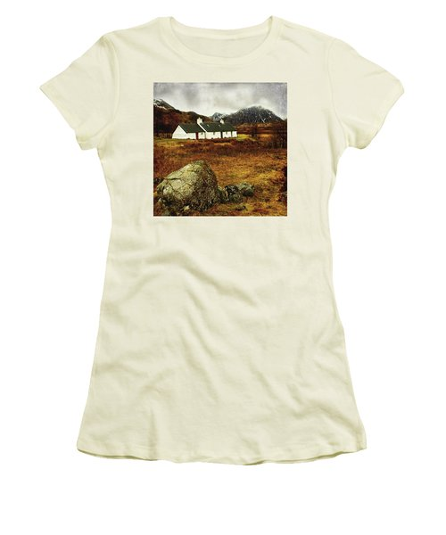 Blackrock Cottage Glencoe Women's T-Shirt (Junior Cut) by Jacqi Elmslie