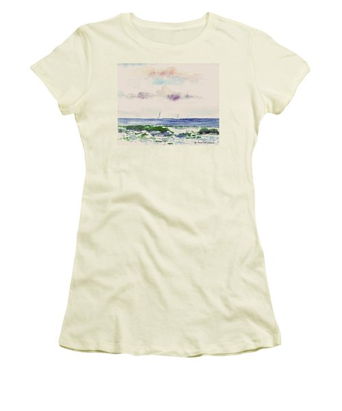 Block Island Sound Women's T-Shirt (Junior Cut) by Joan Hartenstein