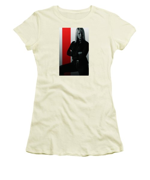 Women's T-Shirt (Junior Cut) featuring the photograph Blonde With Attitude by Bob Pardue