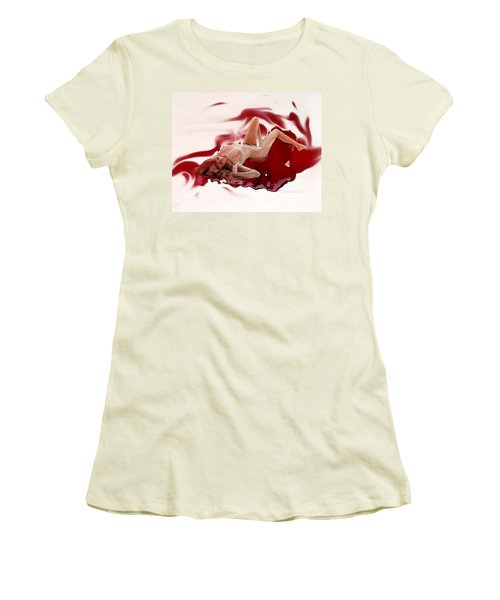 Blood Bath Women's T-Shirt (Junior Cut) by Tbone Oliver
