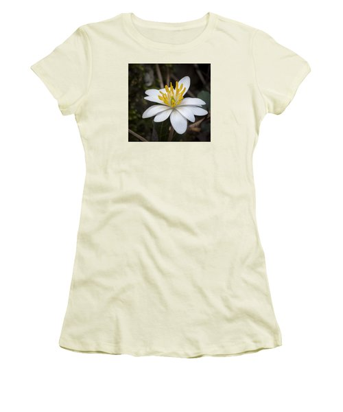 Bloodroot Women's T-Shirt (Junior Cut) by Tyson and Kathy Smith