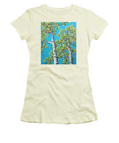 Blossoming Creativitree Women's T-Shirt (Athletic Fit)