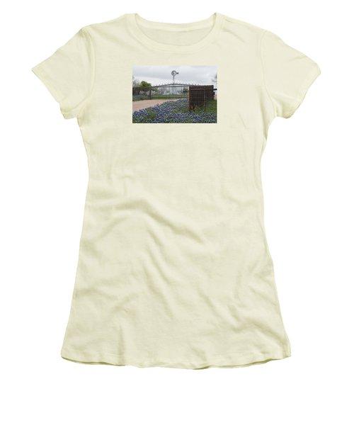 Blue Bonnets By Gate Women's T-Shirt (Athletic Fit)