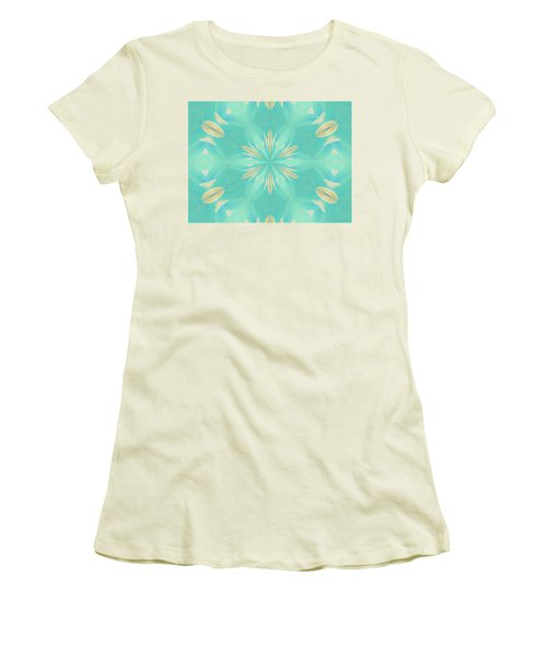 Women's T-Shirt (Athletic Fit) featuring the digital art Blue Coffee by Elizabeth Lock