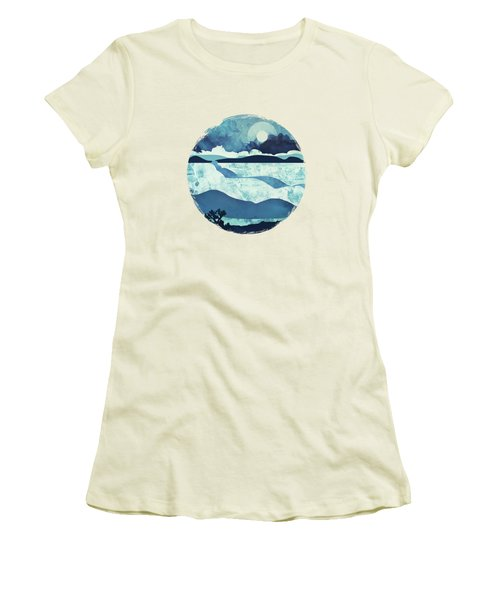 Blue Desert Women's T-Shirt (Junior Cut) by Spacefrog Designs