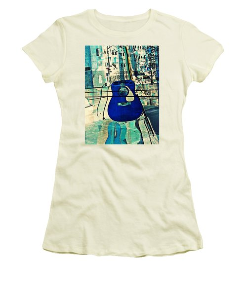 Blue Guitar Women's T-Shirt (Athletic Fit)