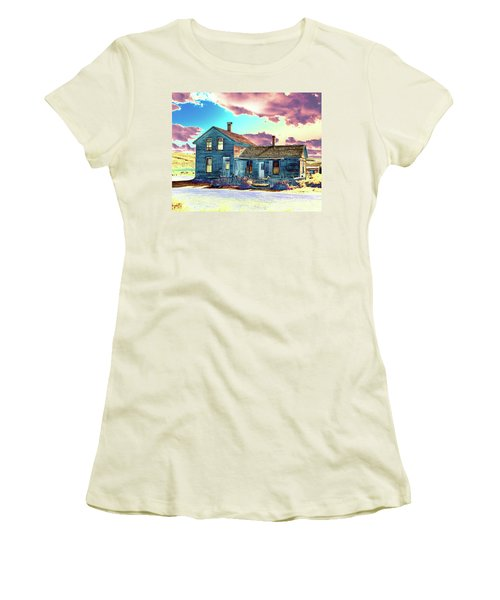 Women's T-Shirt (Junior Cut) featuring the photograph Blue House by Jim and Emily Bush