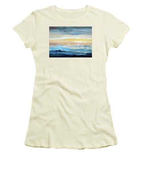 Blue Ridge Mountain Sunset 1.0 Women's T-Shirt (Athletic Fit)