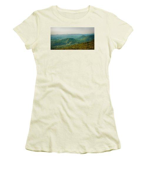 Blue Ridge Mountains Women's T-Shirt (Athletic Fit)