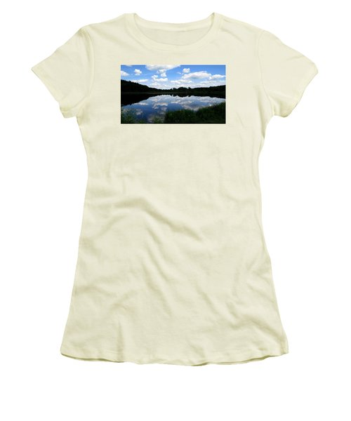 Women's T-Shirt (Junior Cut) featuring the photograph Blue Skies At Cadiz Springs by Kimberly Mackowski