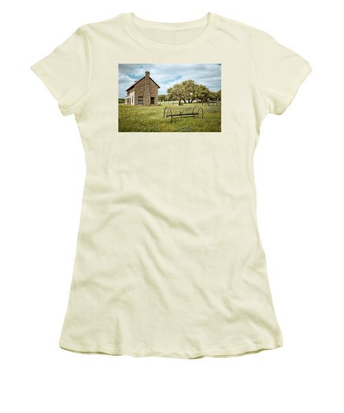 Women's T-Shirt (Junior Cut) featuring the photograph Bluebonnet Dreams by Linda Unger