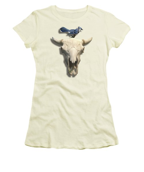 Bluejay And The Buffalo Skull Women's T-Shirt (Athletic Fit)