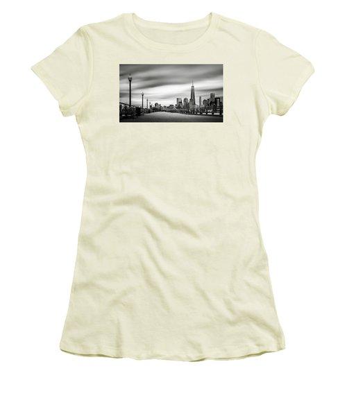 Boardwalk Into The City Women's T-Shirt (Junior Cut) by Eduard Moldoveanu