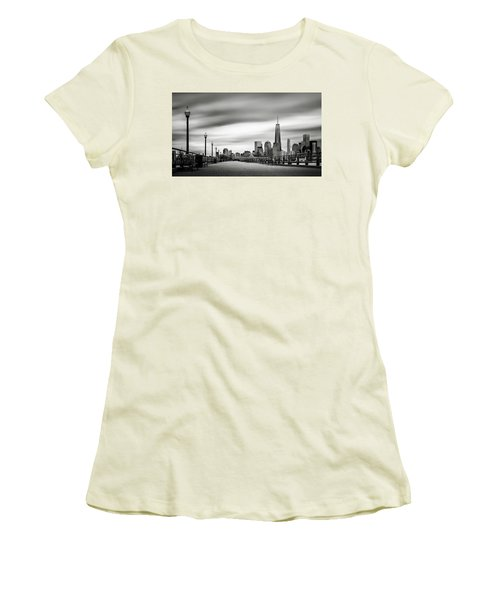 Boardwalk Into The City Women's T-Shirt (Athletic Fit)