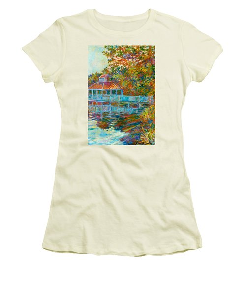 Boathouse At Mountain Lake Women's T-Shirt (Athletic Fit)