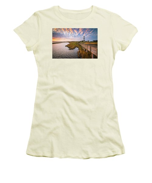 Bodie Island Lighthouse Outer Banks North Carolina Obx Nc Women's T-Shirt (Athletic Fit)
