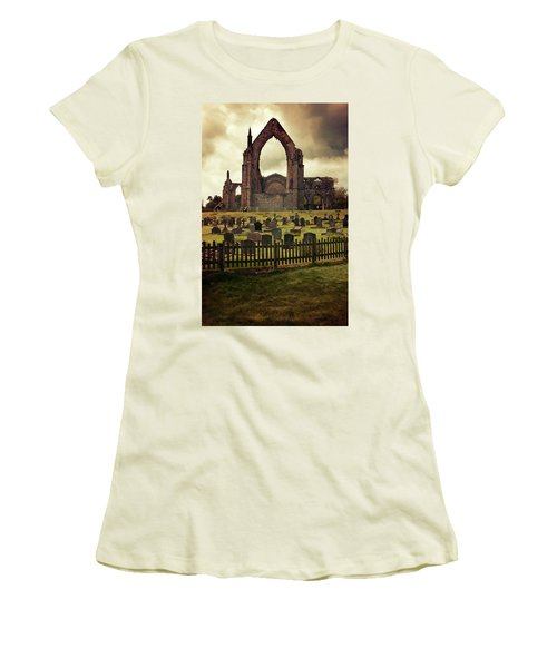 Bolton Abbey At Sunset Women's T-Shirt (Junior Cut) by Jaroslaw Blaminsky