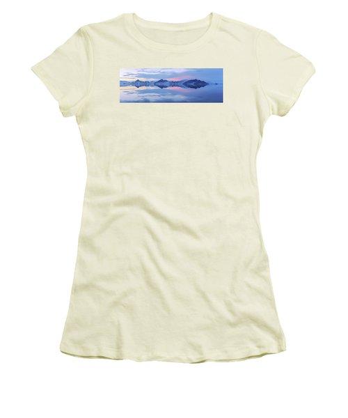 Women's T-Shirt (Junior Cut) featuring the photograph Bonneville Lake by Chad Dutson