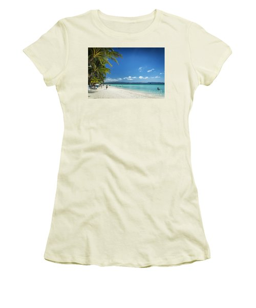 Boracay Island Tropical Coast Landscape In Philippines Women's T-Shirt (Athletic Fit)