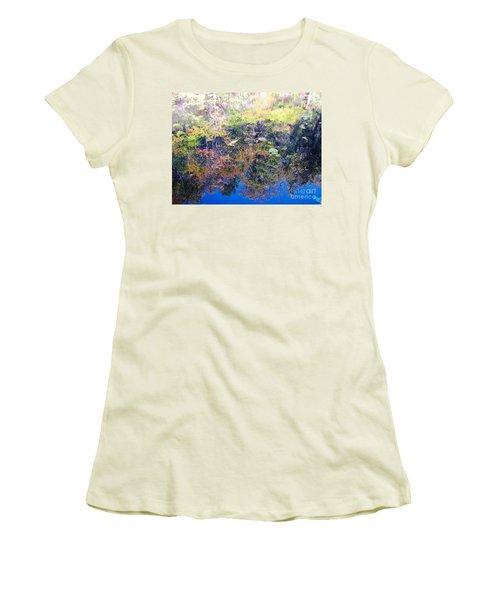 Women's T-Shirt (Junior Cut) featuring the photograph Bottoms Up Sunlight by Melissa Stoudt