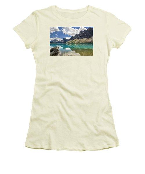 Women's T-Shirt (Junior Cut) featuring the photograph Bow Lake by Christina Lihani