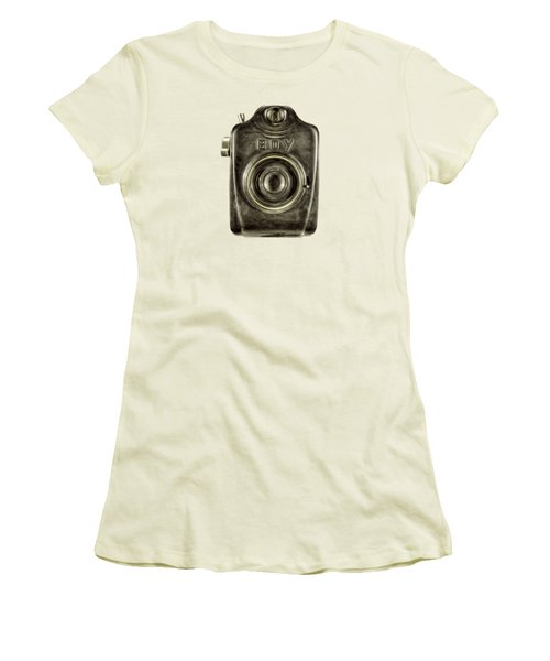 Boy Camera Front Women's T-Shirt (Athletic Fit)