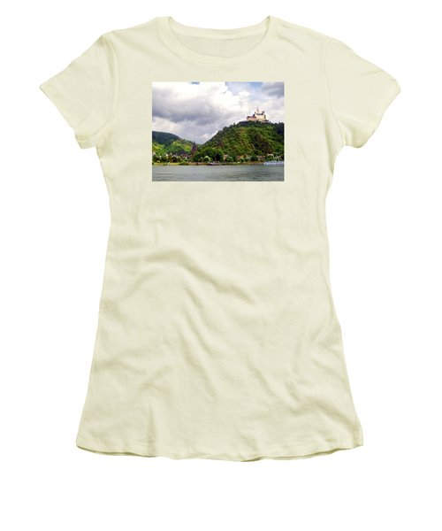 Women's T-Shirt (Junior Cut) featuring the photograph Brambach Germany by Joan  Minchak