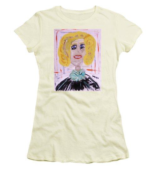 Women's T-Shirt (Junior Cut) featuring the painting Brash Blond by Mary Carol Williams
