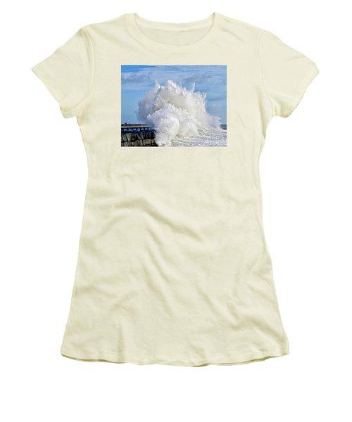 Breakwater Explosion Women's T-Shirt (Junior Cut) by Michael Cinnamond
