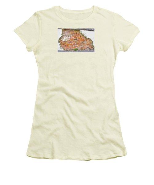 Women's T-Shirt (Junior Cut) featuring the photograph Brick And Mortar by Wanda Krack